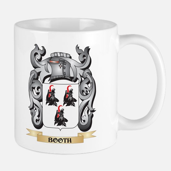 Booth Family Crest - Booth Coat of Arms Mugs