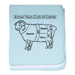 Know Your Cuts of Lamb baby blanket
