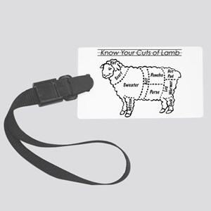 Know Your Cuts of Lamb Large Luggage Tag