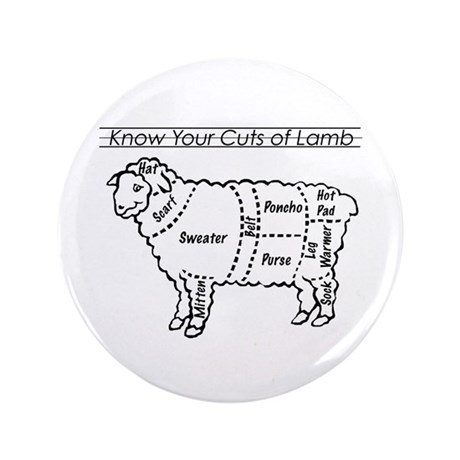 "Know Your Cuts of Lamb 3.5"" Button (100 pack)"