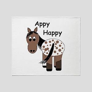 Appy Happy Throw Blanket