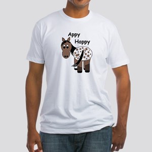 Appy Happy, Fitted T-Shirt