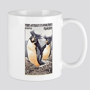 French Antarctica Penguin Stamp 1956 Mug