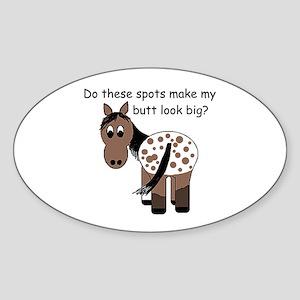 Big Butt Appy Sticker (Oval)