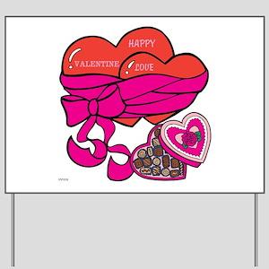 OYOOS Valentine Heart Chocolates design Yard Sign