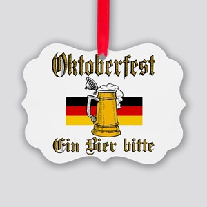 ein beer Picture Ornament