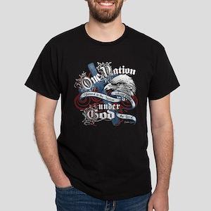 UnderGodEagle-blk tee T-Shirt