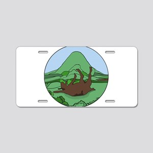 Simple South Mountain MGR logo Aluminum License Pl