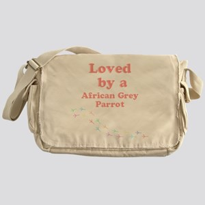 Loved by aAfrican Grey Parrot Messenger Bag