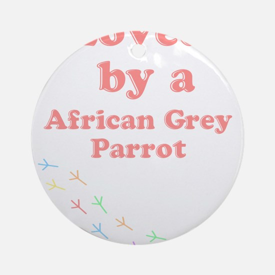 Loved by aAfrican Grey Parrot Ornament (Round)