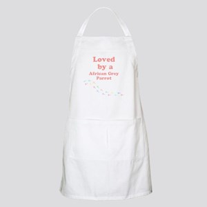 Loved by aAfrican Grey Parrot Apron
