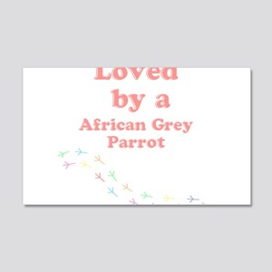 Loved by aAfrican Grey Parrot 20x12 Wall Decal