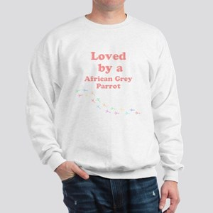 Loved by aAfrican Grey Parrot Sweatshirt