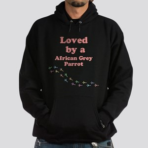 Loved by aAfrican Grey Parrot Hoodie (dark)
