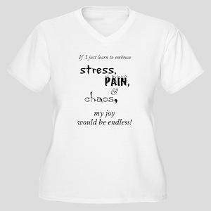 Stress, Pain Chaos Women's Plus Size V-Neck T-Shir