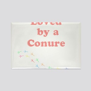 Loved by a Conure Rectangle Magnet
