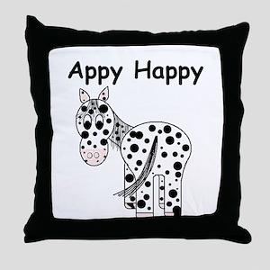 Appy Happy, Leopard Appaloosa Throw Pillow