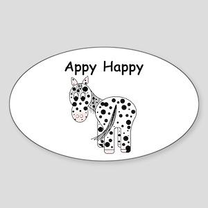Appy Happy, Leopard Appaloosa Oval Sticker