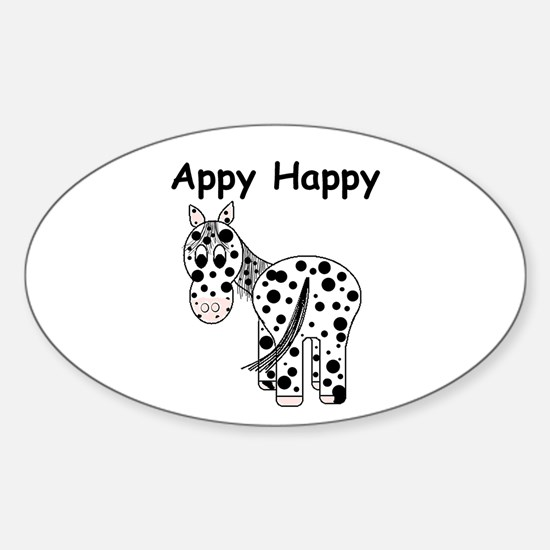 Appy Happy, Leopard Appaloosa Oval Decal