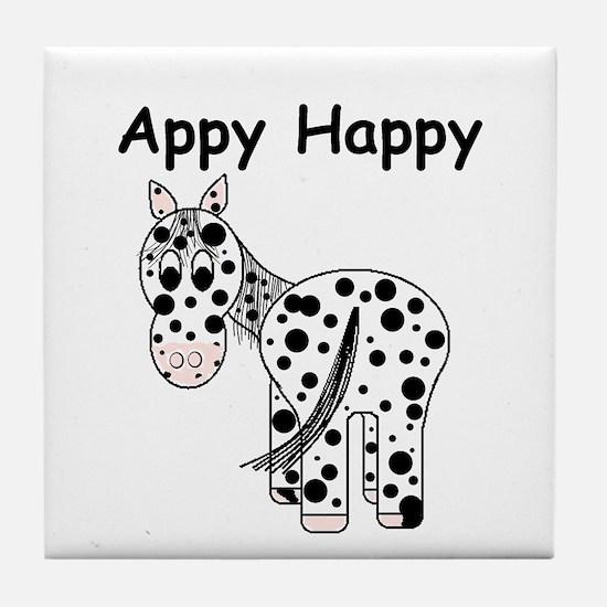 Appy Happy, Leopard Appaloosa Tile Coaster