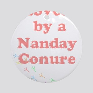 Loved by a Nanday Conure Ornament (Round)