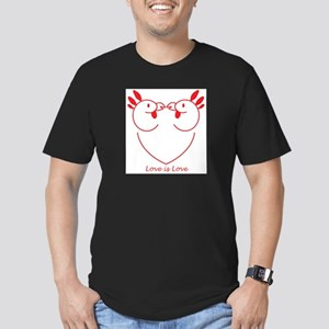 Happy Gay Chickens Men's Fitted T-Shirt (dark)