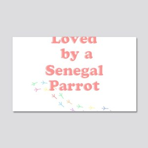 Loved by a Senegal Parrot 20x12 Wall Decal