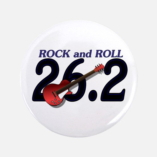 "Rock and Roll MArathon 3.5"" Button (100 pack)"