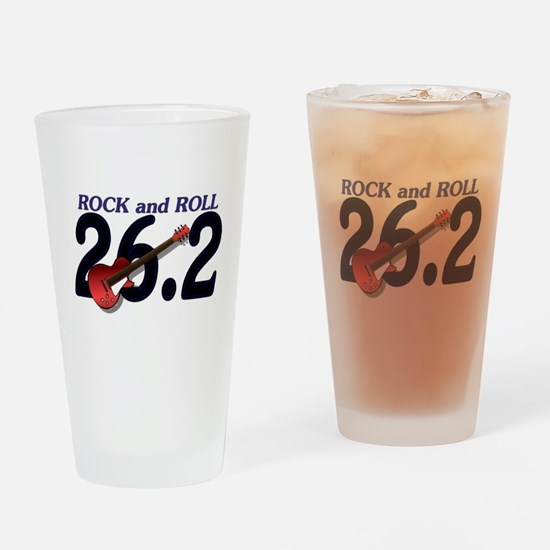 Rock and Roll MArathon Drinking Glass