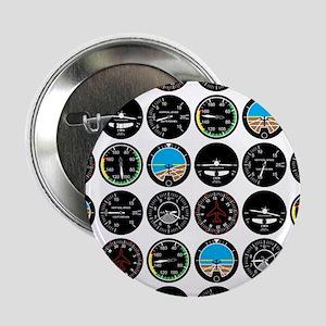 """Flight Instruments 2.25"""" Button"""