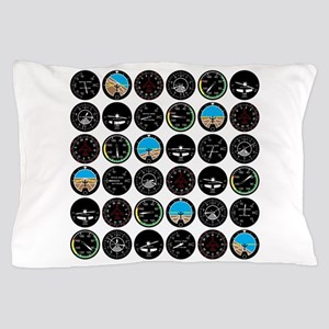 Flight Instruments Pillow Case