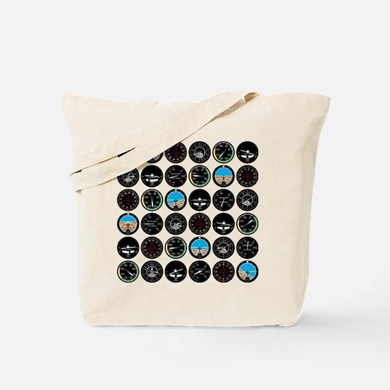 Flight Instruments Tote Bag