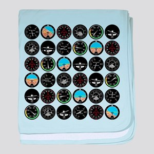 Flight Instruments baby blanket