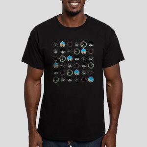 Flight Instruments Men's Fitted T-Shirt (dark)