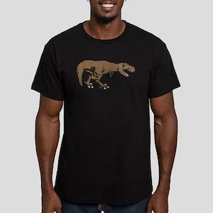Tyrannosaurus rex 3 Men's Fitted T-Shirt (dark)