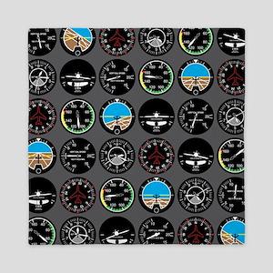 Flight Instruments Queen Duvet