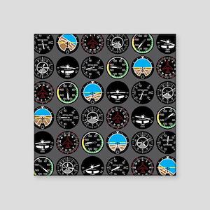 "Flight Instruments Square Sticker 3"" x 3"""