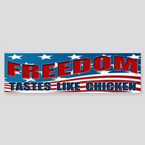 FREEDOM TASTES LIKE CHICKEN Sticker (Bumper)