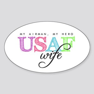 USAF Wife Sticker (Oval)