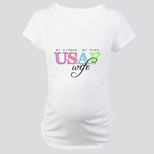 USAF Wife Maternity T-Shirt