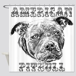 American Pitbull Shower Curtain