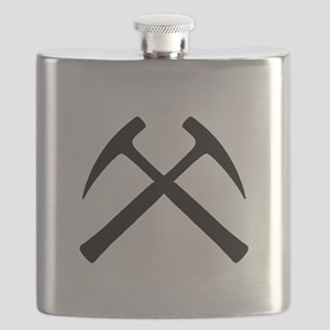 Crossed Rock Hammers Flask