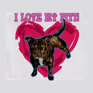 love my pitt Throw Blanket