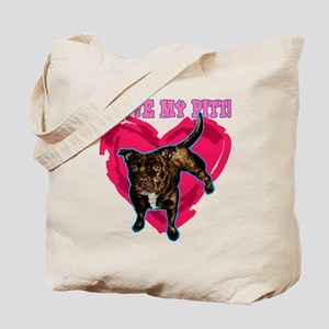 love my pitt Tote Bag
