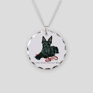 Scottish Terrier Rescue Me Necklace Circle Charm