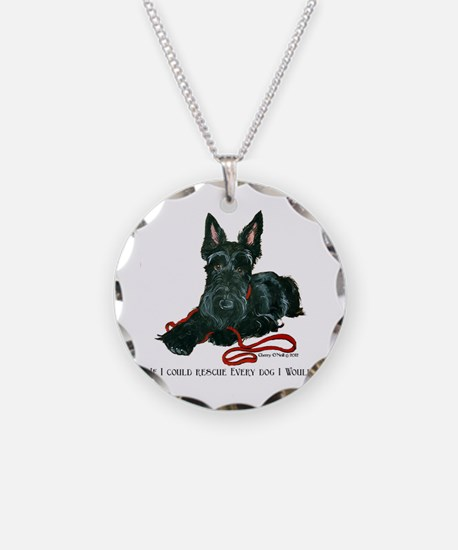 Scottish Terrier Rescue Me Necklace