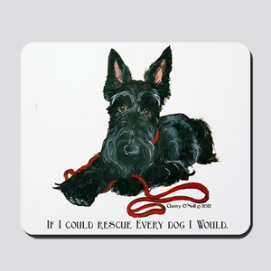 Scottish Terrier Rescue Me Mousepad