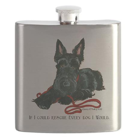 Scottish Terrier Rescue Me Flask