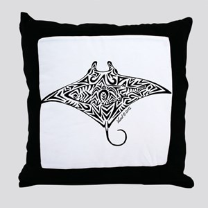 Hawaiian Manta Throw Pillow