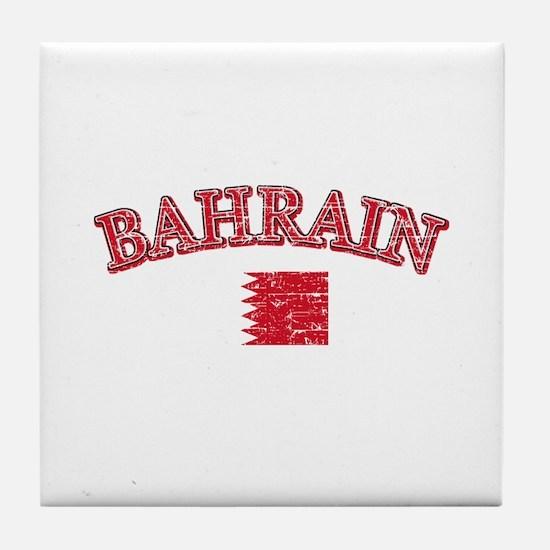 Bahrain Flag Designs Tile Coaster